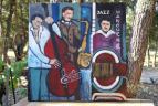 Swingend schilderij Jazz Manouche